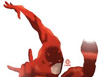 Daredevil Minimalist Splash Poster
