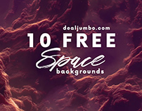 10 FREE Space Backgrounds