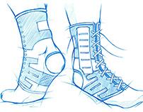 LP SUPPORT-Ankle Brace 2.0 Sketch/Product Design