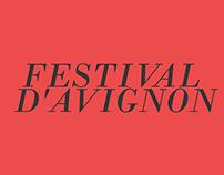 Poster Festival d'Avignon