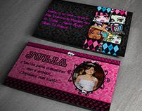 Convite Aniversário - Monster High