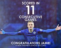 Jamie Vardy: Record Breaker