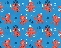 Octopus Fabric Pattern