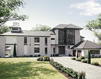 Exterior Render for a Private Residence in Boston
