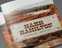 Rocky Mountain Funeral Program Template