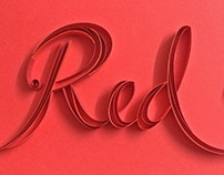 Colour paper typography