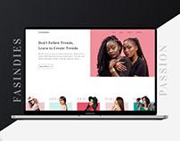 Fashion Premium website Home Page Design & Interaction