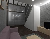 House 3.30 x 11.00 m, Duplex, Interior