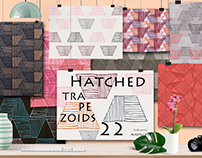 Hatched Trapezoids seamless patterns collection
