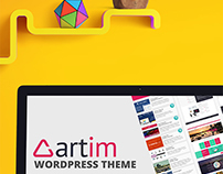 Artim Wordpress Theme, Themeforest Landing Page Design