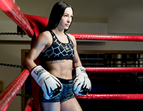 Muay Thai girl by Nike