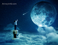 Journey to the moon | Photo Manipulation