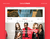 Beautyhack – Online-magazine redesign