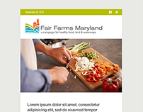 Email Template Design for Fair Farms Maryland
