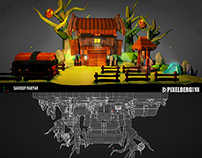 GAME ENVIRONMENT, HAND PAINTED 3D