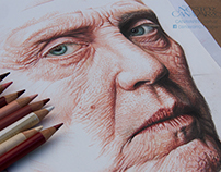Christopher Walken - Color Pencils - Work in Progress