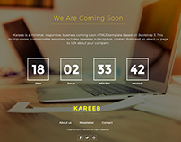 Free HTML Coming Soon Website Template (jQuery Counter)