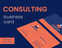 Consulting Company - Business Card Template