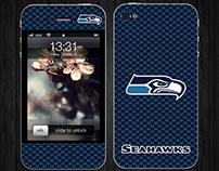 Seahawks iPhone Skin