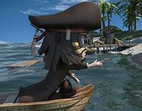 Jack sparrow 3D