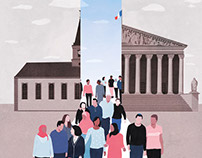 Le Monde - editorial illustration