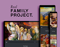 Broshure. Leaflet. Web. Real family project.