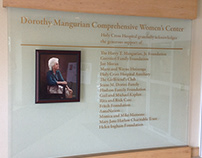 Dorothy Mangurian Women's Center Major Donor Wall