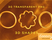 30 Free Metalic PNG Shapes