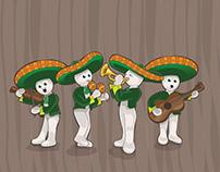 Mexican scene illustration