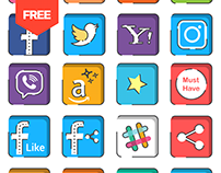 FREEBIE | 160 Social Media Icons Free Download