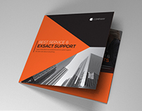 Indesign Brochure red-black theme