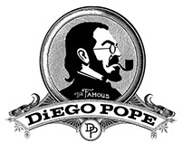 The Famous Diego Pope: logo design