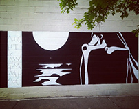 Night Swimming, mural in New York