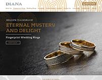 Dubai Based Diana Jewellery Landing Page Design