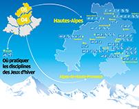 Où pratiquer les disciplines des Jeux d'hiver