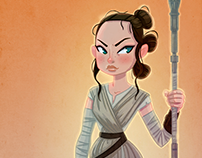 """REY""(STAR WARS)_Fan Art"