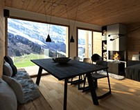 Tyrolean chalet visualizations