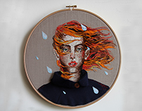 embroidery rainy day