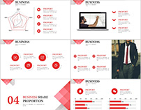 23+ Red business share chart PowerPoint templates
