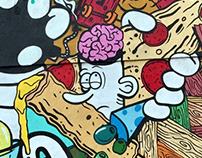 Party Pizza Graffiti Art