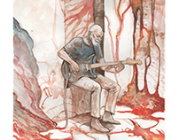 David Gilmour Live Pompeii 2016 Illustration