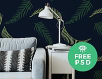 WallPaper Mockup / Free PSD