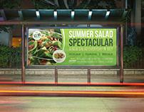 Salad Restaurant Billboard Template