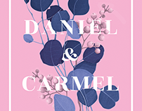 Daniel & Carmel wedding invitations