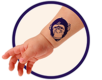 MONKEY temporary tattoo for TITOO FOR YOU