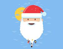 Santa Snowman - Animated Gif