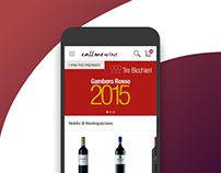 Callmewine - Mobile website