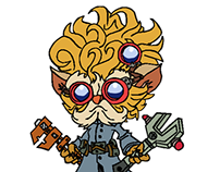 Heimerdinger Pen Tool Drawing