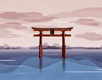 Torii in the lake 湖中鳥居