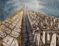 """"""" generations of asylum"""" water color painting"""